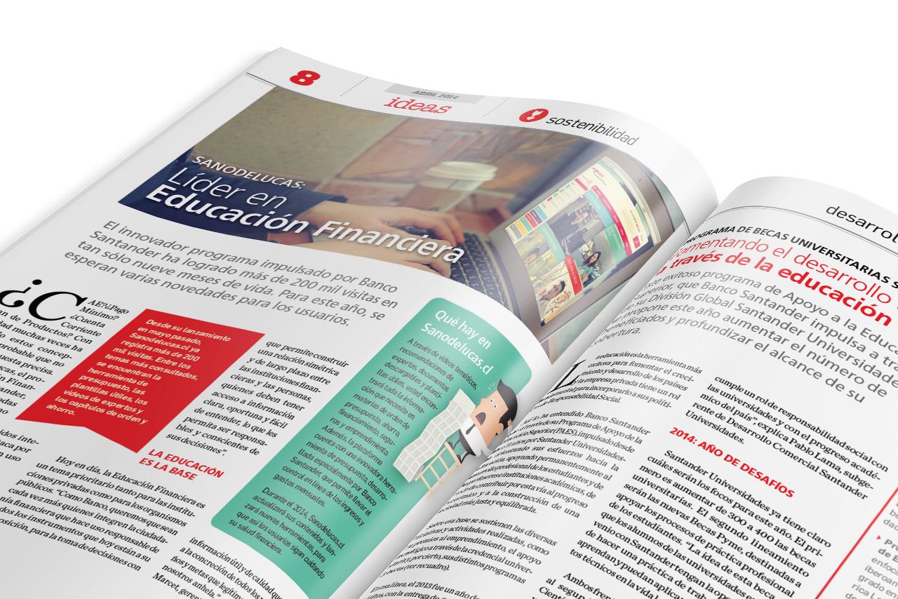 Banco Santander - Revista Ideas Clientes Detalle de página